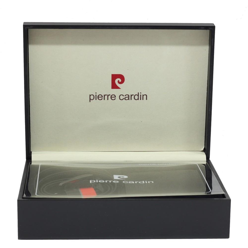 Set cadou pentru barbati Pierre Cardin: Portofel si curea din piele naturala intr-o cutie de lemn 135