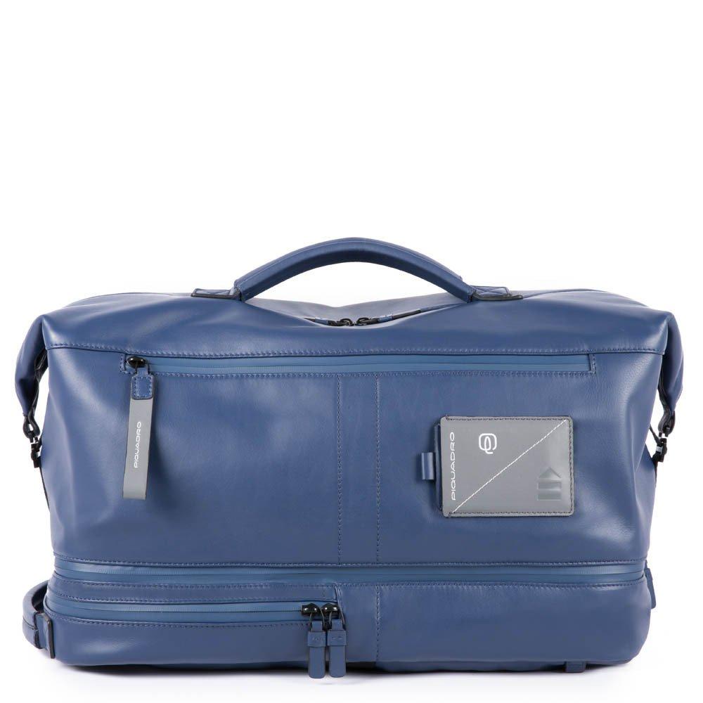 "Geanta de voiaj / Rucsac port laptop 15,6"" Piquadro din piele naturala BV4793W97/BLU"
