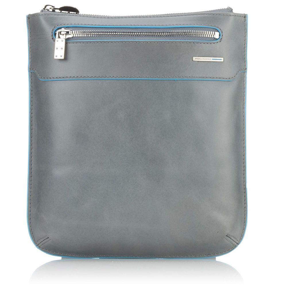 Geanta crossbody Piquadro port iPad din piele naturala CA1358B2/GR2