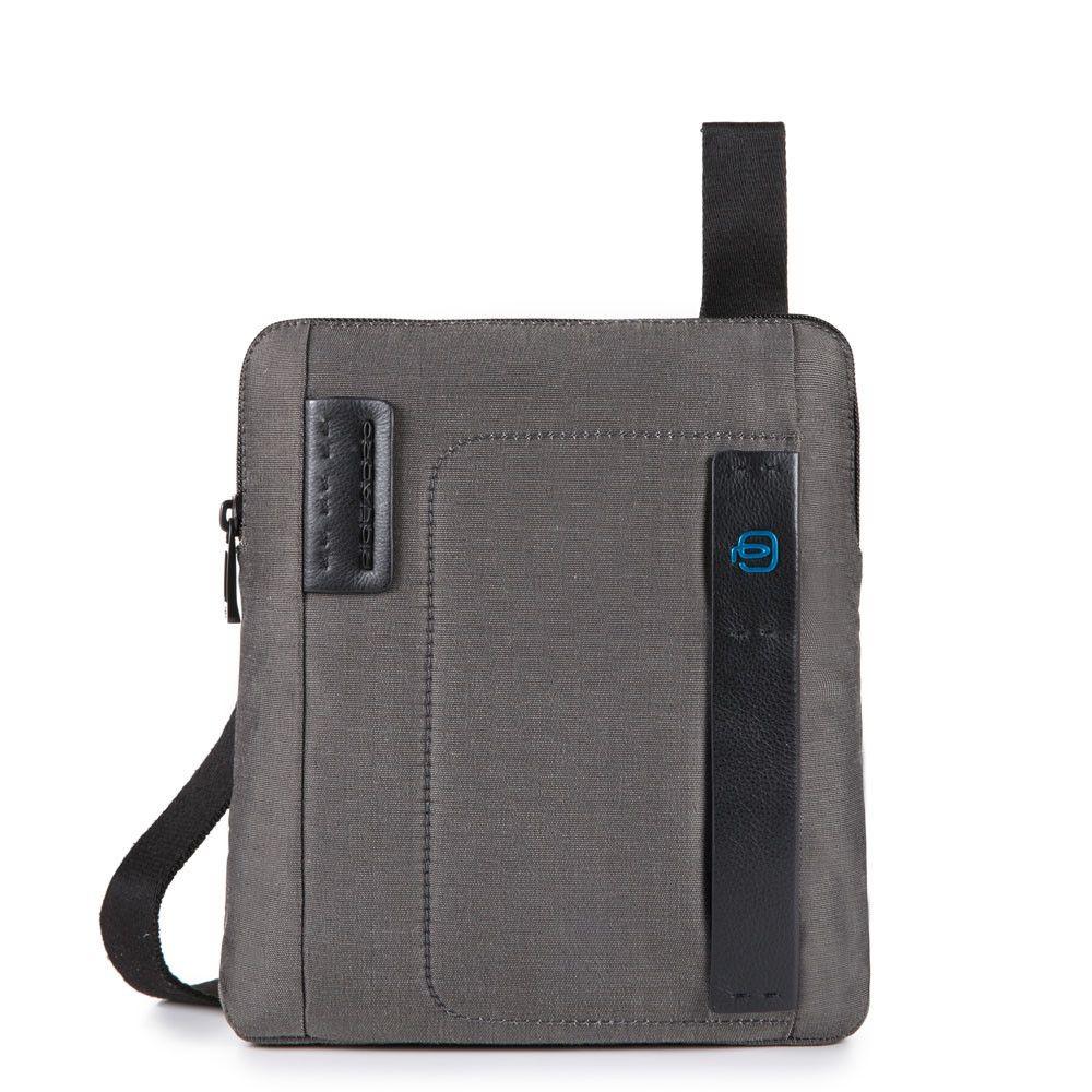 "Geanta crossbody Piquadro port iPad®10,5''/9,7"" din tesut si piele naturala CA1358P16/CLASSY"