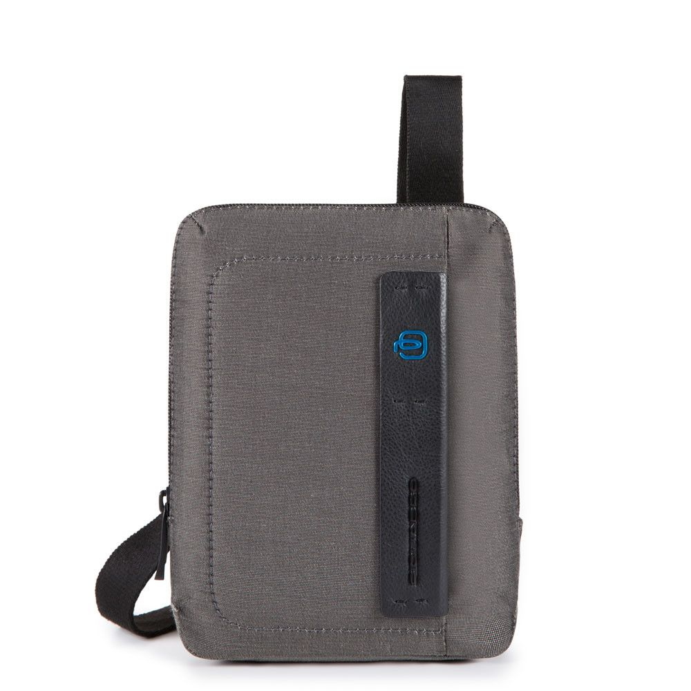 Geanta crossbody Piquadro port iPad mini din tesut si piele naturala CA3084P16/CLASSY