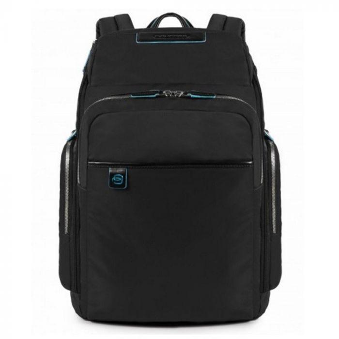 "Rucsac port laptop 15,6'' si iPad®10,5''/9,7"" Piquadro din tesut si piele naturala CA3826X3/N2"