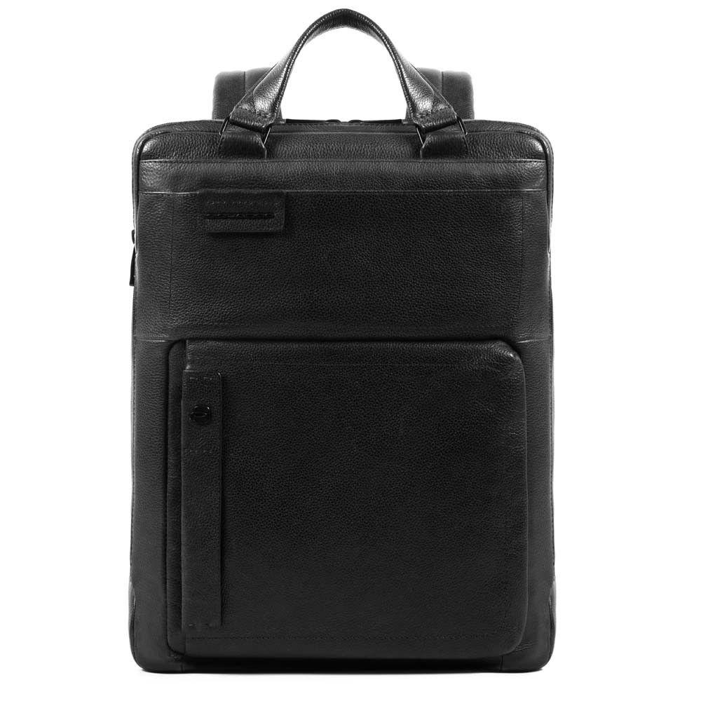 """Geanta/Rucsac Piquadro pentru laptop de 15,6'' si iPad®10,5''/9,7"""" cu protectie RFID si buzunar pentru Connequ din piele naturala CA3975P15S/N"""