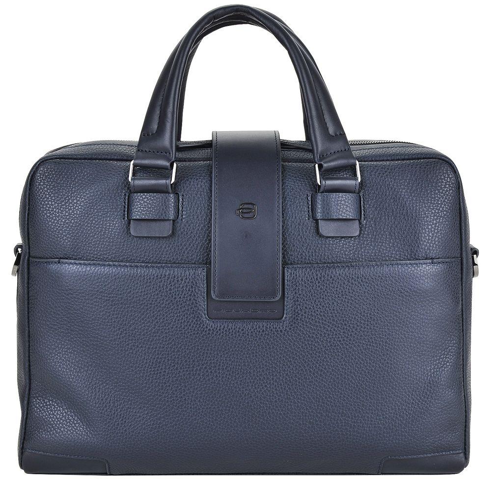 "Geanta port laptop 14"" si iPad®10,5''/9,7"" Piquadro din piele naturala CA3996S86/BLU"