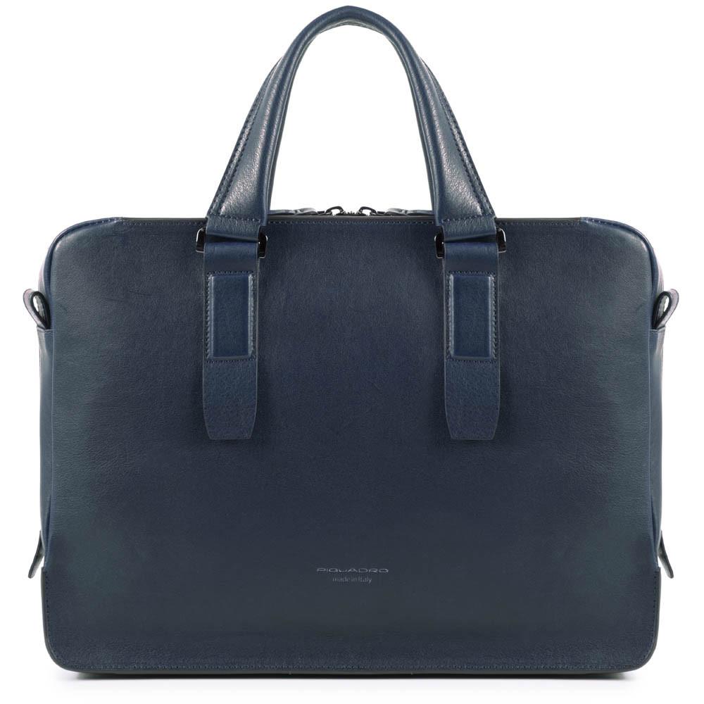 "Geanta slim port laptop 14"" si iPad®10,5''/9,7"" Piquadro din piele naturala CA4098W94/BLU"