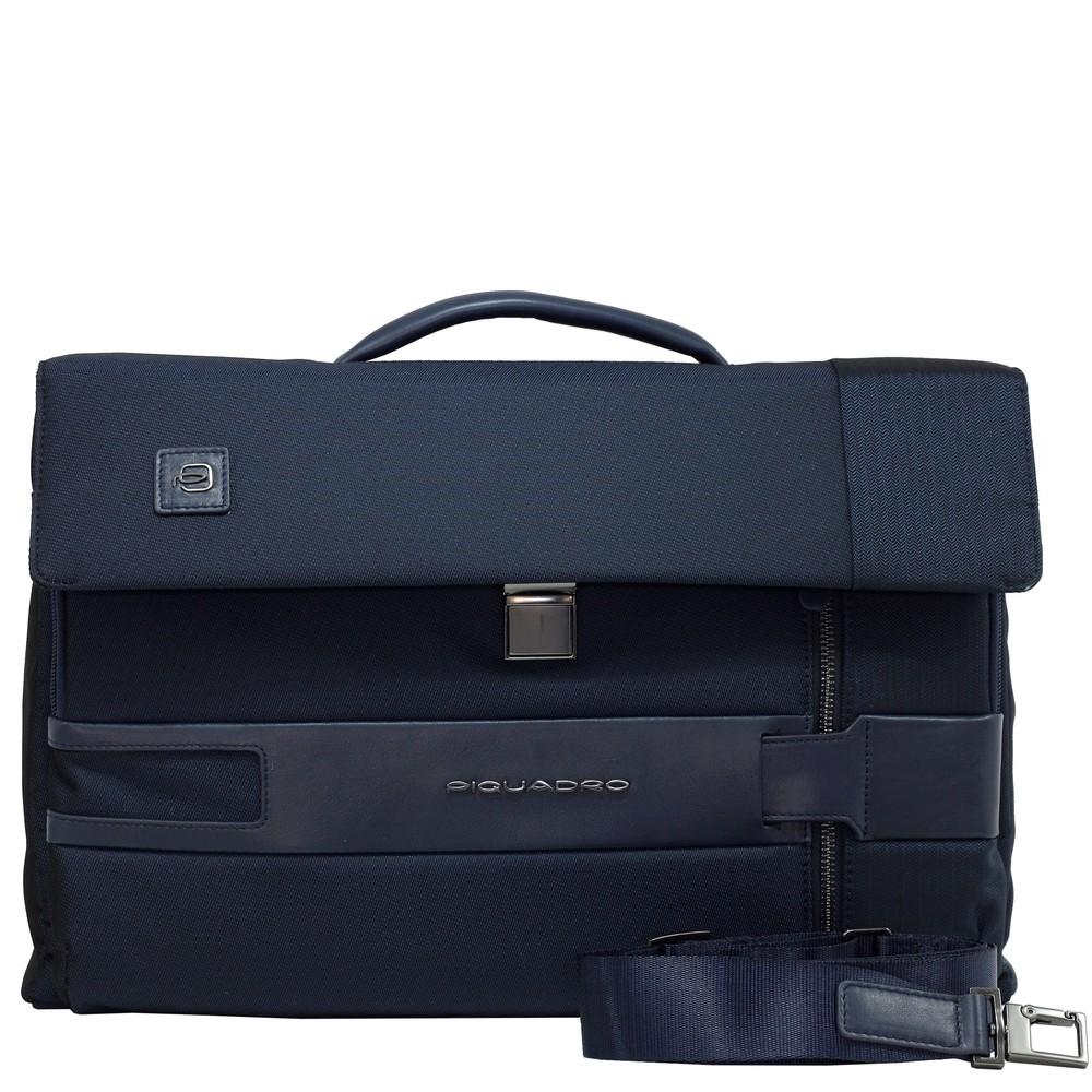 "Geanta port laptop 15'' si iPad®10,5''/9,7"" Piquadro din tesut si piele naturala CA4474S100/BLU"