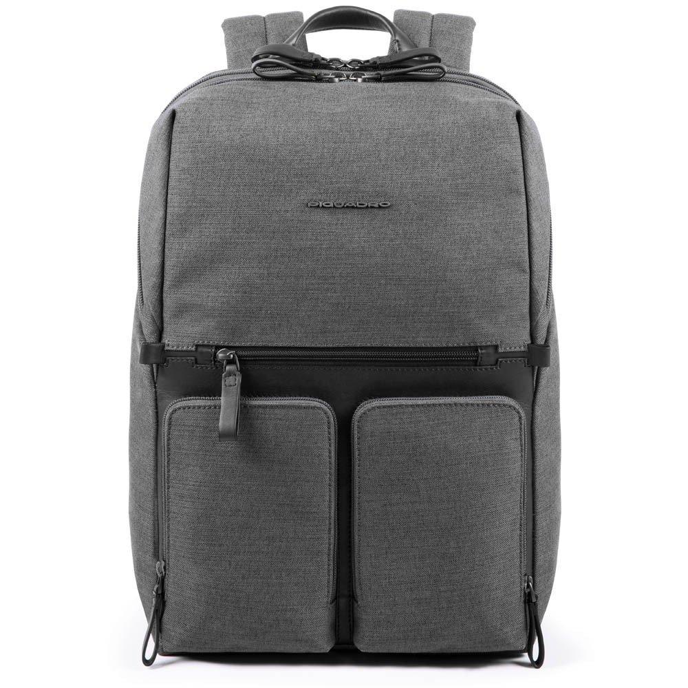 """Rucsac port laptop 15,6'' si iPad®10,5''/9,7"""" Piquadro din tesut si piele naturala CA4541W98/GR"""