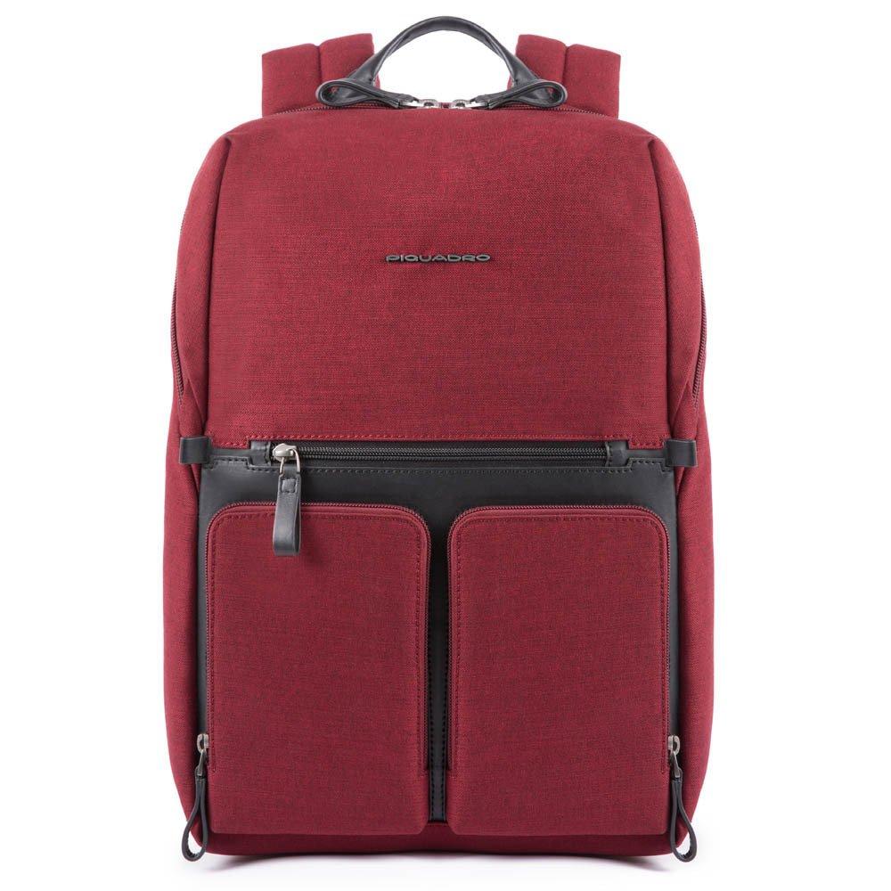 "Rucsac port laptop 15,6'' si iPad®10,5''/9,7"" Piquadro din tesut si piele naturala CA4541W98/R"