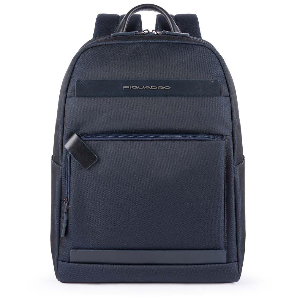 "Rucsac Piquadro port laptop 11''/iPad®11''/9,7"" din tesut si piele naturala CA4624S100/BLU"