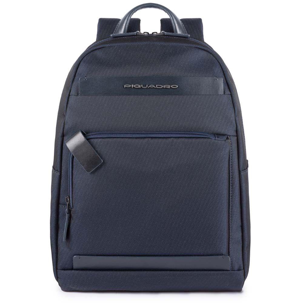 "Rucsac Piquadro port laptop 11''/iPad®11''/9,7"" din tesut si piele naturala CA4625S100/BLU"