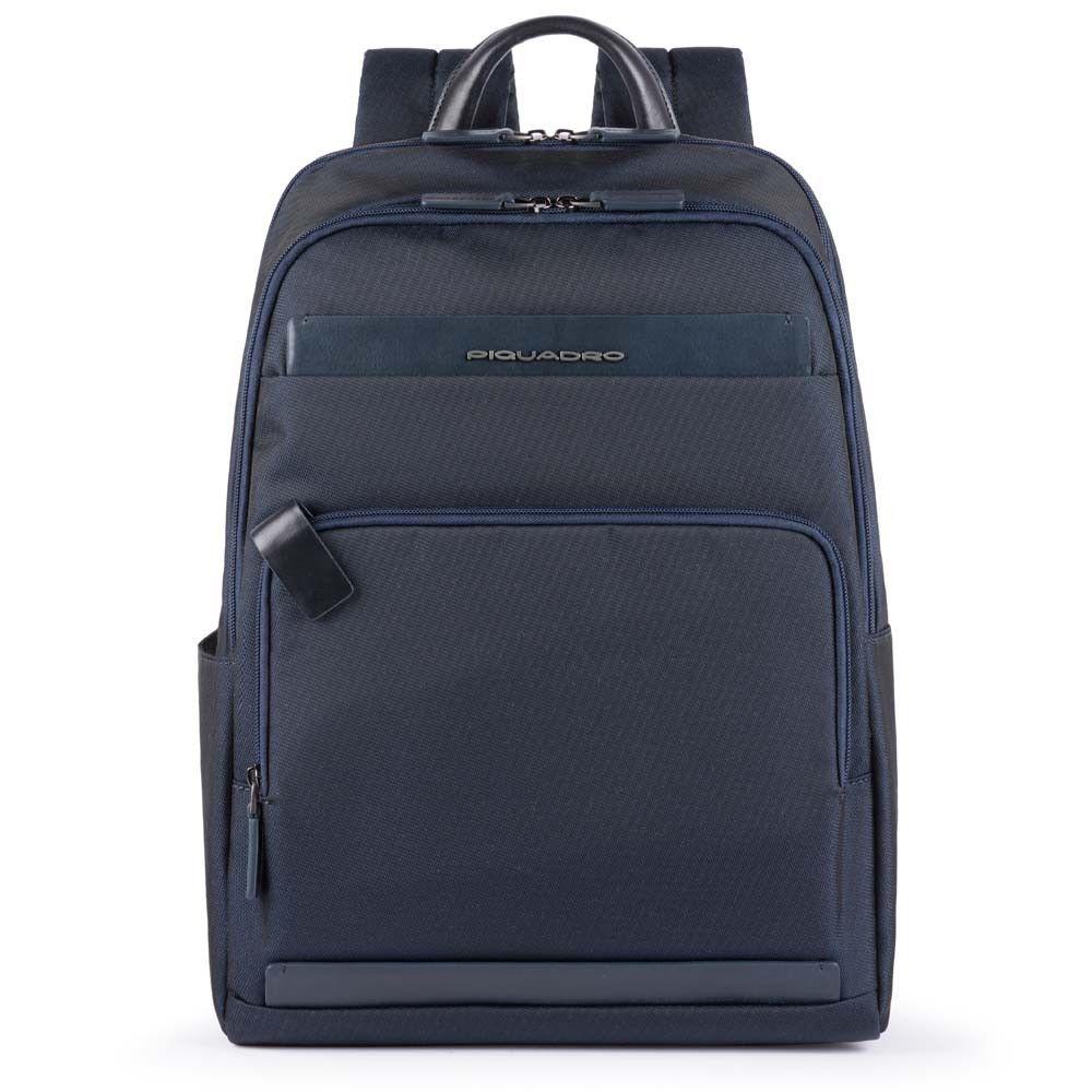 "Rucsac Piquadro pentru laptop de 15,6'' si iPad®10,5''/9,7"" din tesut si piele naturala CA4718S100/BLU"