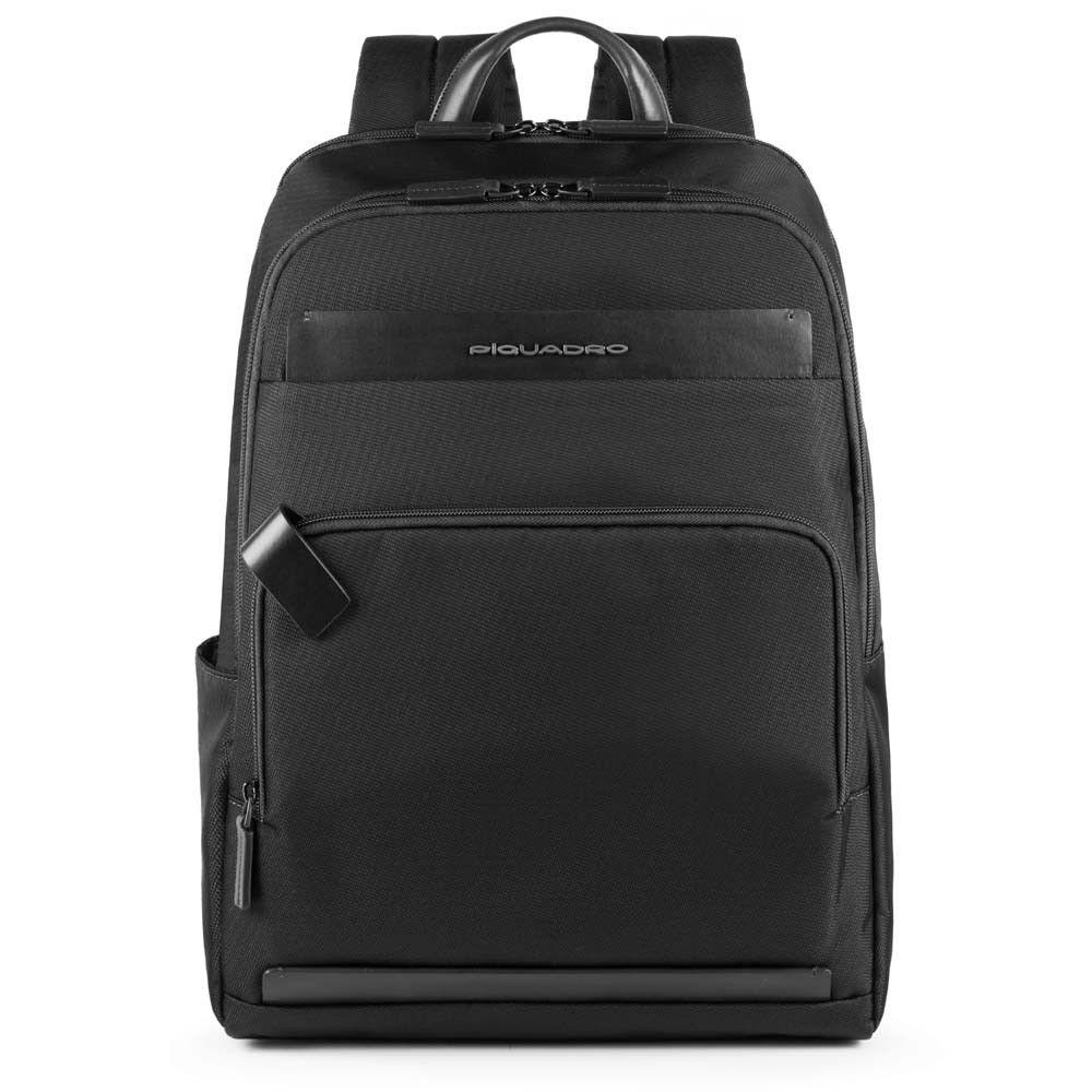 "Rucsac Piquadro pentru laptop de 15,6'' si iPad®10,5''/9,7"" din tesut si piele naturala CA4718S100/N"