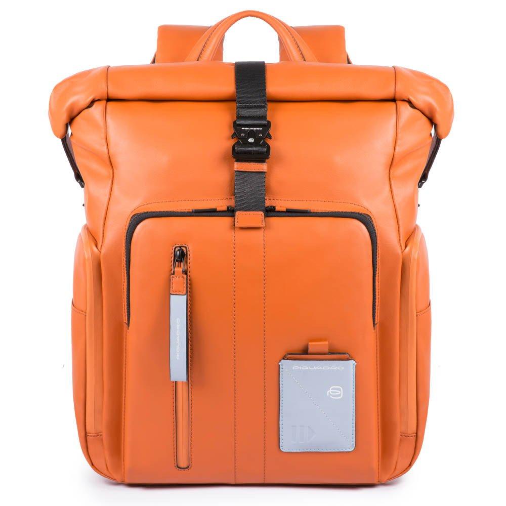 """Rucsac Piquadro din piele naturala pentru laptop de 15,6'' si iPad®10,5''/9,7"""" si sistem antifurt CA4789W97BM/AR"""