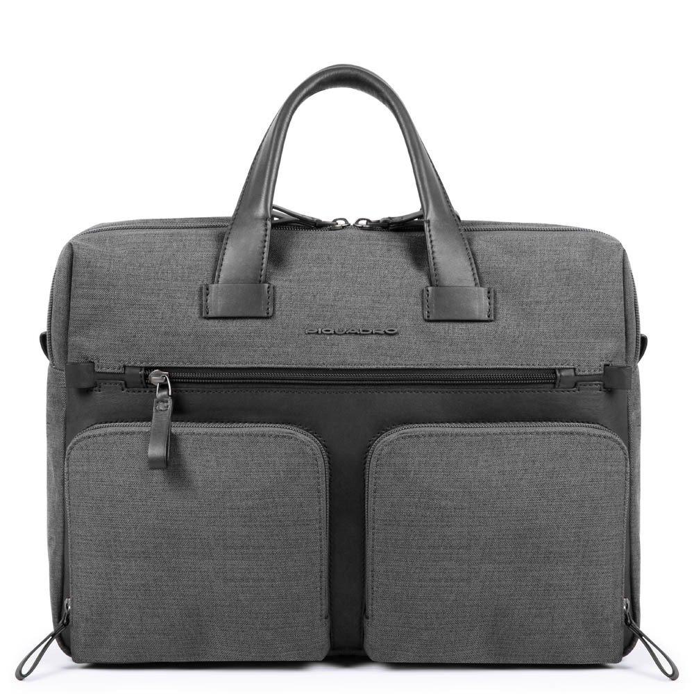 "Geanta port laptop 14"" si iPad®10,5''/9,7"" Piquadro din tesut si piele naturala CA4803W98/GR"