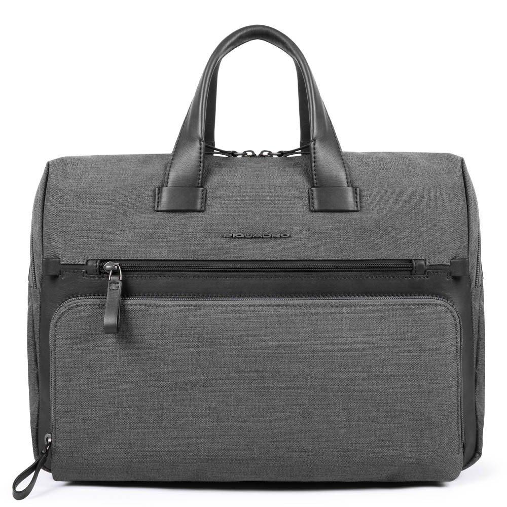 "Geanta port laptop 14"" si iPad®10,5''/9,7"" Piquadro cu buzunar pentru Connequ din tesut si piele naturala CA4844W98/GR"