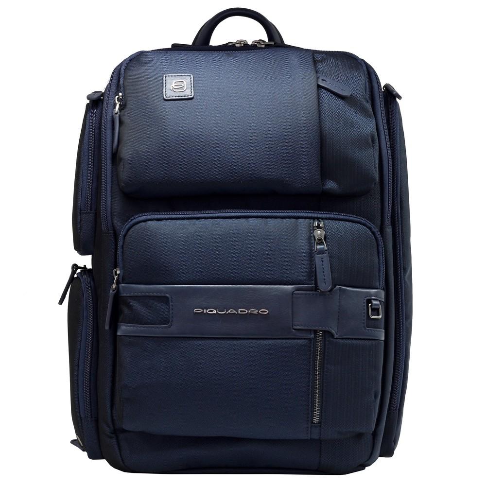 "Rucsac port laptop 15,6"" si iPad®10,5''/9,7"" Piquadro din tesut si piele naturala CA4915S107/BLU"