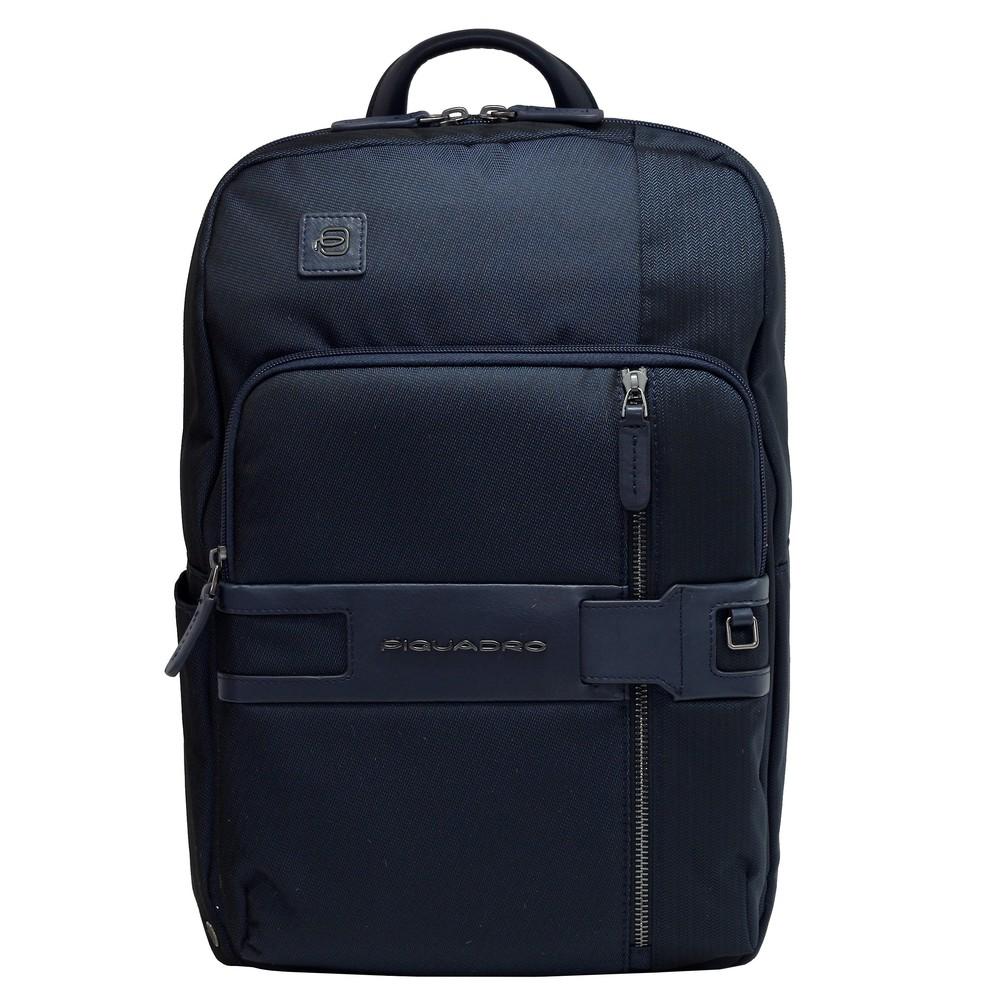 "Rucsac port laptop 14"" si iPad®10,5''/9,7"" Piquadro din tesut si piele naturala CA4916S107/BLU"