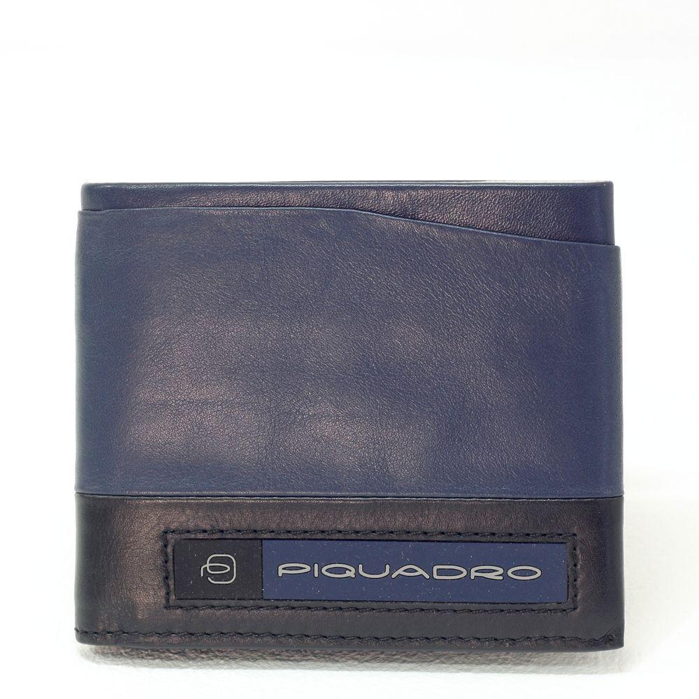 Portofel pentru barbati Piquadro cu protectie RFID din piele naturala PU5189W105R/BLU