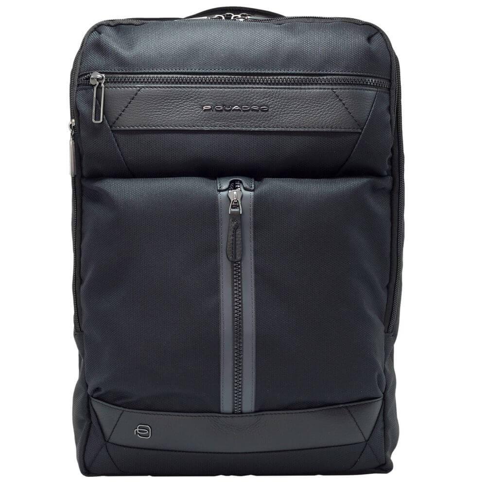 Rucsac extensibil PIQUADRO ,,fast check,, portlaptop 15,6'', din tesut reciclat, protectie RFID CA5525W109/N