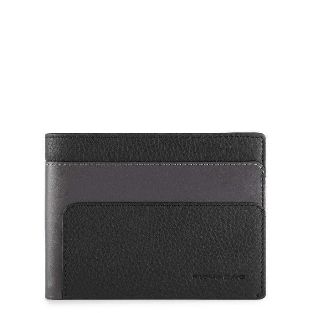 Portofel pentru barbati Piquadro cu protectie RFID din piele naturala PU257S97R/N